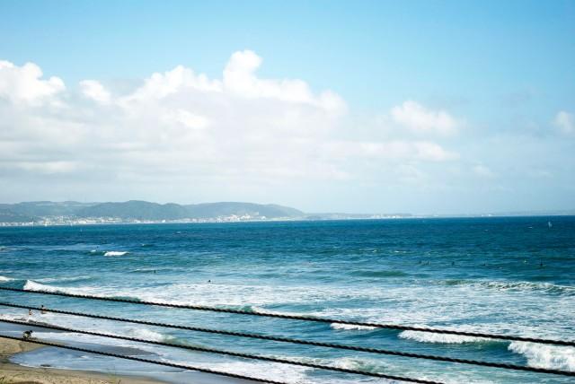 Kamakomae Beach Coastline and view of Hayama