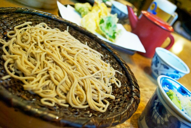 Soba and Tempura Set at Yusuian in Jindaiji